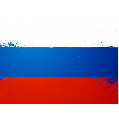 vintage grunge texture flag russia vector image