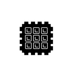 waffle icon black sign on vector image