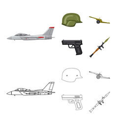Weapon and gun sign vector