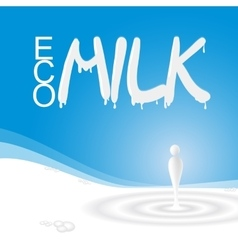 White milk splash vector