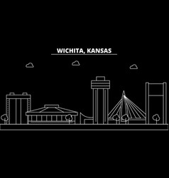 Wichita silhouette skyline usa - wichita vector