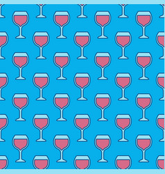wine glass colorful pattern vector image