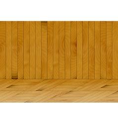 wooden room vector image