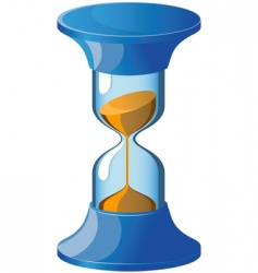 hour glass icon vector image vector image