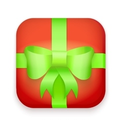 Icon of gift boxes with bow and ribbon vector image