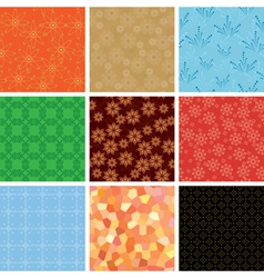 set of various geometric pattern vector image vector image