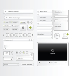 Web User Interface Elements vector image