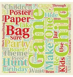 Birthday party games add to the fun text vector