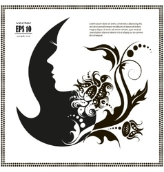 female silhouette images and emblems or vector image vector image