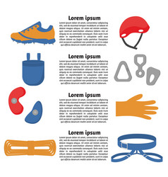 flat design elements of rock climber vector image