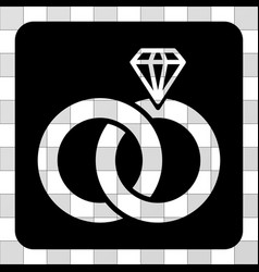 jewelry wedding rings rounded square vector image
