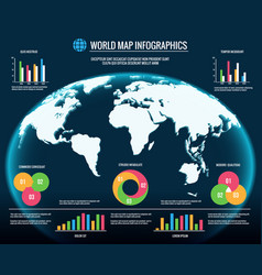 map infographics 3d world maps graphic design vector image