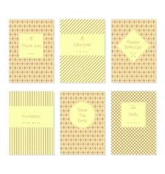 Set of card templates or brochures vector image