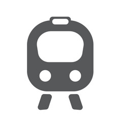 train flat icon vector image vector image