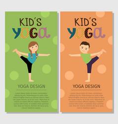 yoga kids vertical flyer design vector image vector image