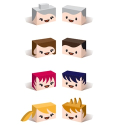 3D family avatars vector image