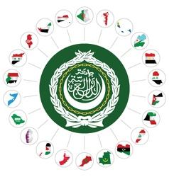 Arab League member states vector image