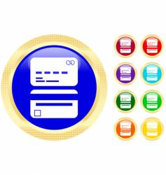 credit card icons vector image vector image