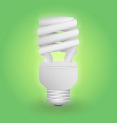 Economical fluorescent light bulb save energy vector