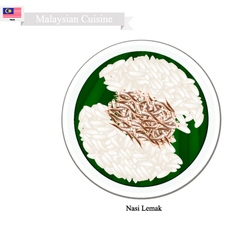 Nasi Lemak or Malaysian Streamed Rice in Coconut vector image vector image