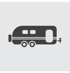 Trailer icon vector image