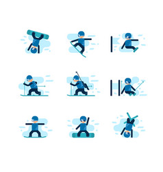 winter games skiing and snowboarding vector image vector image
