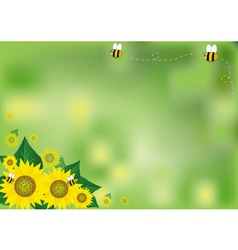 Abstract background sunflowers vector image vector image