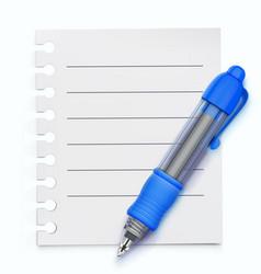blue ballpoint pen vector image vector image