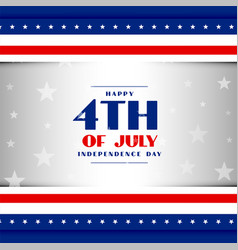 4th july american independence day patriotic vector image