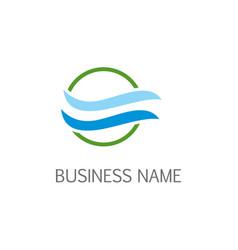 Air wave bio logo vector
