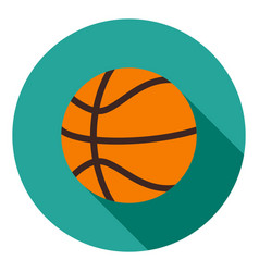 basketball icon sports ball icon sports ball vector image