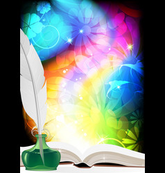 Big book of fairy tales vector