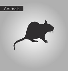 Black and white style icon of rat vector