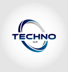 blue circle logo template sign symbol icon vector image