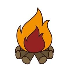 Bonfire flammes icon design vector