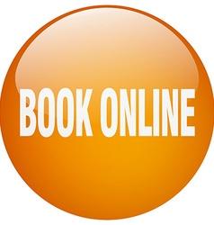book online orange round gel isolated push button vector image