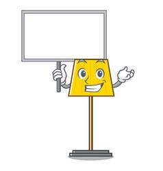 bring board floor lamp character cartoon vector image