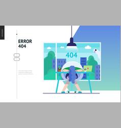 Business series - error 404 web template vector