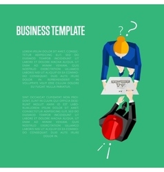 Business template Top view of engineer builders vector
