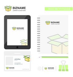 carton business logo tab app diary pvc employee vector image