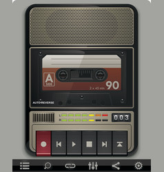 cassette recorder template vector image