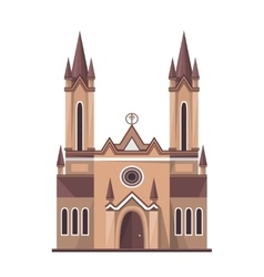 Catholic church icon isolated on white background vector