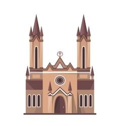 Catholic church icon isolated on white background vector
