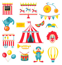 Collection colorful elements for circus and vector