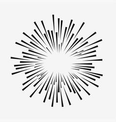 Comic explosion effect vector