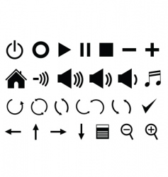 control panel icons vector image