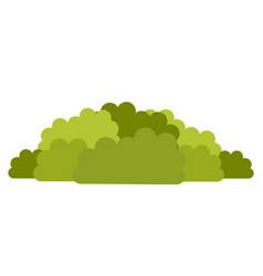 deciduous shrubs icon flat isolated vector image
