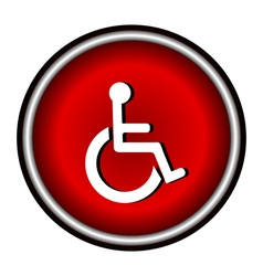 Disabled Handicap Icon in circle vector