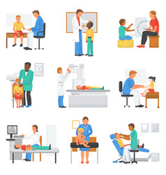 Doctor and patient medical character vector