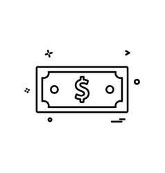 dollar money currency icon design vector image